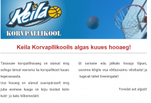 Uudiskiri: Korvpallikoolis algas uus hooaeg